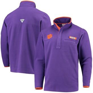 Columbia Unbranded Men's Purple Clemson Tigers Collegiate Harborside Fleece Pullover Hoodie