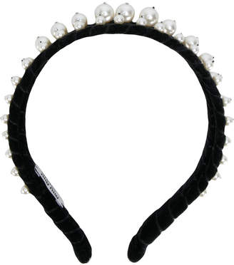 Miu Miu headband with pearl embellishment