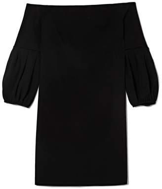 Off-the-shoulder Bubble-sleeve Dress