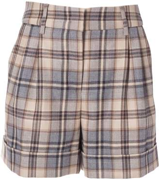 Alberta Ferretti High Waist Checked Shorts