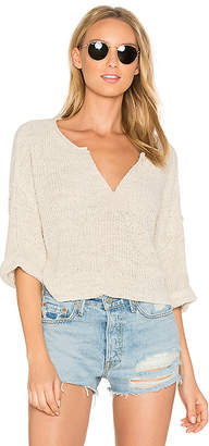 Free People Daybreak Sweater in White $108 thestylecure.com