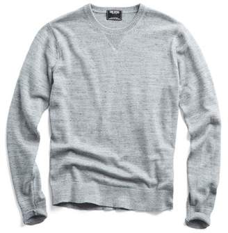 Todd Snyder Cotton Cashmere Spaced Dyed Sweater in Grey