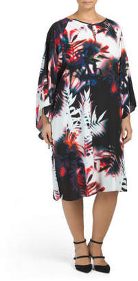 Kimono Sleeve Leaves Dress