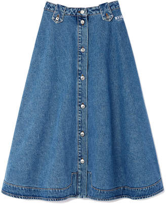 MSGM Jean Skirt