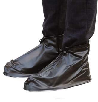 Unique Bargains 1 Pair Size XL Unisex PVC Nonslip Reusable Rain Shoes Cover Guard Overshoes