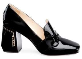 Prada Patent Leather Loafer Pumps