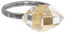 Melissa Joy Manning Large Banded Herkimer Ring