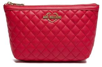Love Moschino Quilted Travel Pouch