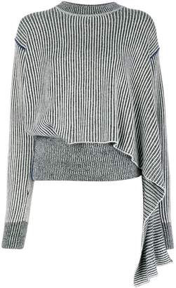 Sportmax draped striped sweater