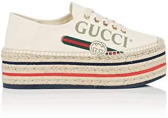 Gucci Women's Canvas Platform Espadrille Sneakers