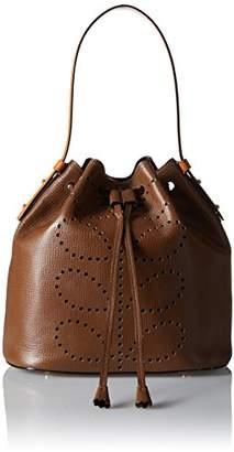 Orla Kiely Punched Stem Leather Large Duffle Bag