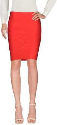 Herve Leger Knee length skirts