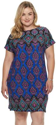Plus Size Suite 7 Paisley Shift Dress