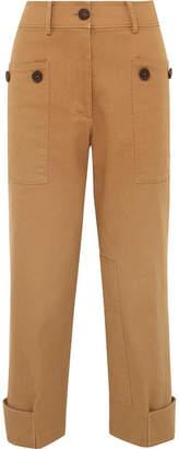 REJINA PYO - Hazel Cropped Cotton-blend Twill Straight-leg Pants - Camel