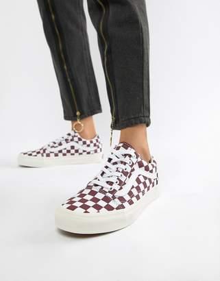 Vans Burgundy Checkerboard Old Skool Sneakers