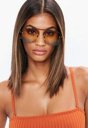 Missguided Ombre Top Bar Detail Sunglasses