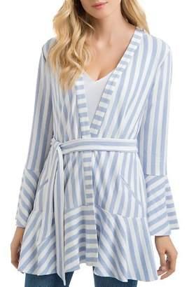 Lysse Alice Striped Wrap-Front Jacket