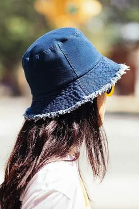 Urban Outfitters Raw Edge Denim Bucket Hat