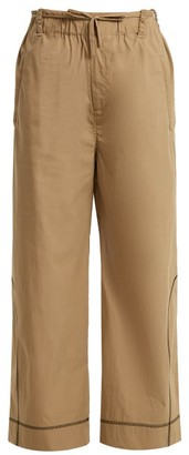 Craig Green Drawstring Waist Cotton Blend Trousers - Womens - Beige