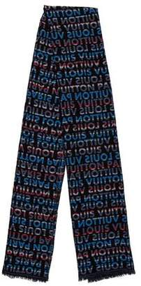 Louis Vuitton Wool & Silk Striped Scarf