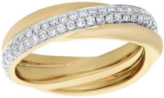 Affinity Diamond Jewelry Affinity 1/2 cttw Crossover Diamond Ring, 14K