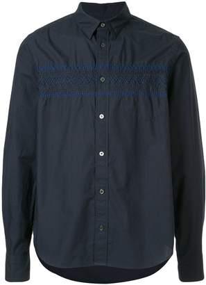 Sacai shirred embroidered shirt