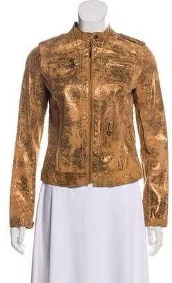 Tory Burch Metallic Leather Jacket