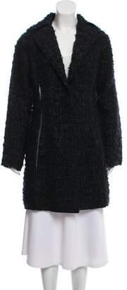 Nina Ricci Silk-Paneled Bouclé Coat