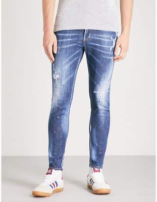 DSQUARED2 Distressed slim-fit skinny jeans