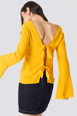 NA-KD Na Kd Tie Back Wide Sleeve Blouse