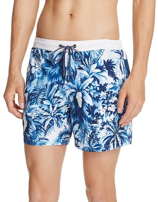 BOSS Mandarinfish Floral Swim Trunks $84 thestylecure.com