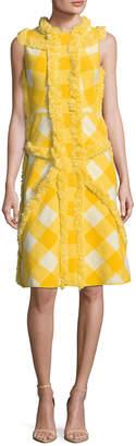 M Missoni Printed Fringe Trim Flared Dress