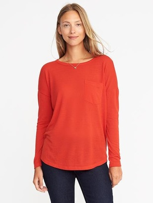 Loose Sweater-Knit Jersey Top $19.99 thestylecure.com
