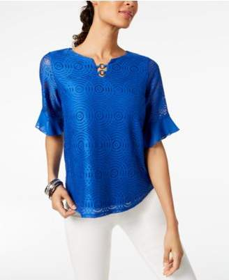 JM Collection Embellished Lace Top, Created for Macy's