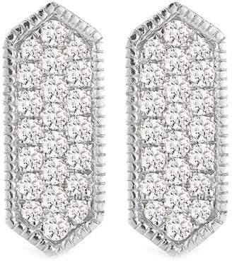 DANA REBECCA 14K White Gold Diamond Accented Cynthia Rose Bar Earrings - 0.21 ctw