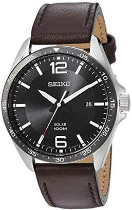 Seiko Men's 'Sport Watches' Quartz Stainless Steel and Leather Dress