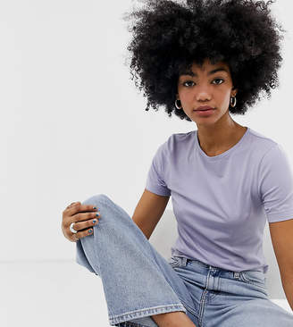 Weekday crew neck t-shirt in lilac