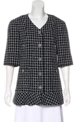 Chanel Tweed Short Sleeve Jacket