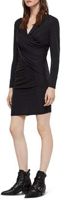 AllSaints Sofia Draped Jersey Dress