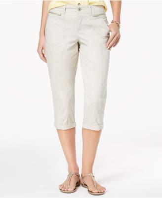 Style&Co. Style & Co Zipper-Pocket Capri Pants