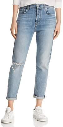 7 For All Mankind Josefina High-Waist Cropped Boyfriend Jeans