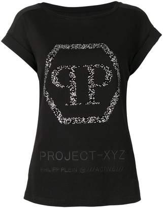 Philipp Plein logo embellished XYZ T-shirt