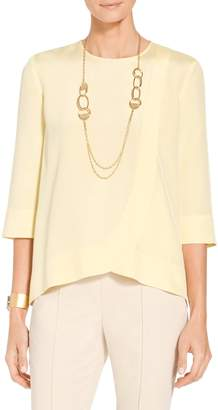 St. John Stretch Bell Sleeve Blouse