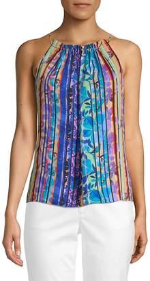 Laundry by Shelli Segal Women's Multicolored Stripe Sleeveless Top