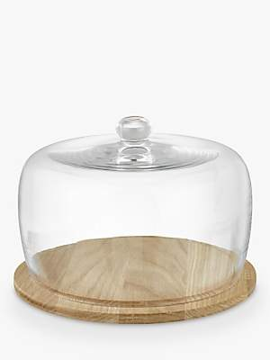 John Lewis & Partners Cheese Dome & Wood Base