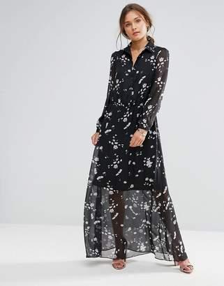 Liquorish Long Sleeve Floral Maxi Dress