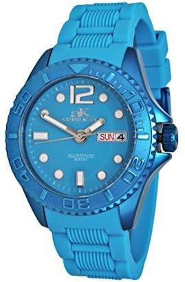Adee Kaye adeekaye ak5433 Ladies D 'alluminio ' Day & Dateカラー腕時計 – ブルー