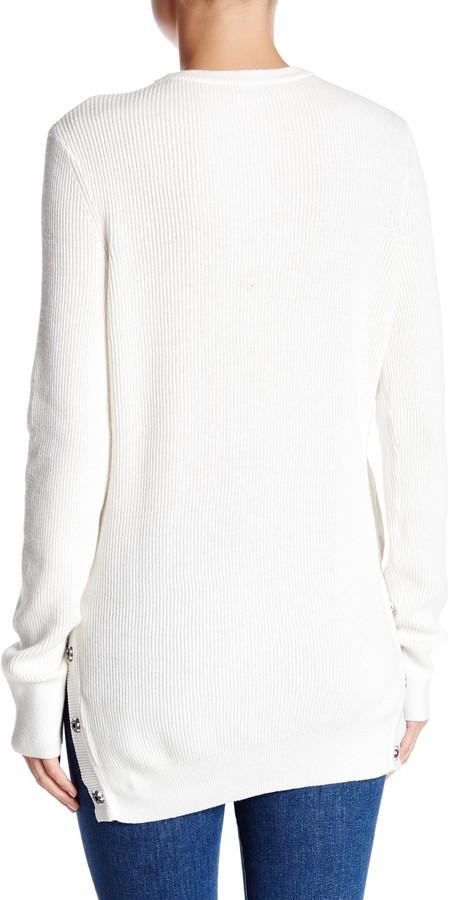 Equipment Crew Neck Snap Button Hem Sweater 3