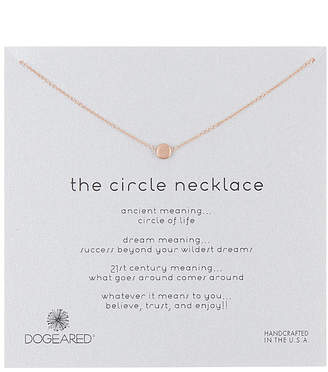 Dogeared Circle Collection 14K Rose Gold Over Silver Necklace