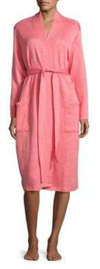 Natori N Pocketed Floral Quilted Robe